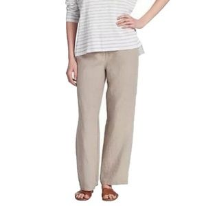 Make Offer Eileen Fisher Taupe Linen Pants Medium